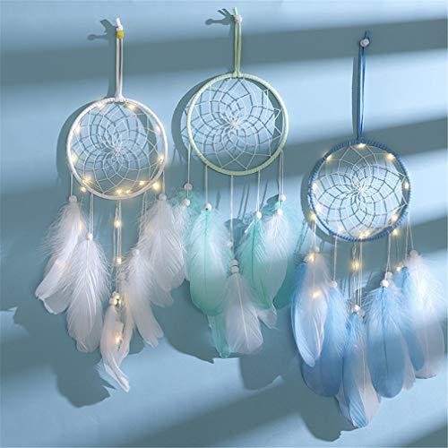 GLITZFAS Lámpara de Noche con atrapasueños de Glittfas, lámpara de ensueño, decoración de Pared Hecha a Mano