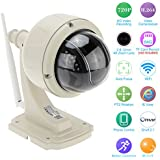 KKmoon IP Cámara Wifi Inalámbrico H.264 HD 720P 2.8-12mm Auto focus PTZ Seguridad CCTV de Vigilancia