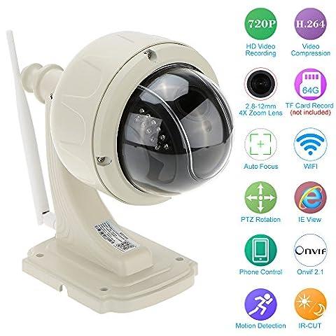 KKmoon Digital Zoom PTZ CCTV Camera H.264 HD 720P 2.8-12mm