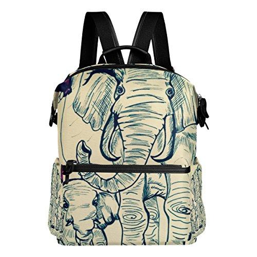 COOSUN Escuela de Pintura Elefantes Mochila Mochila de Viaje Multi