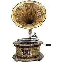 Nostalgia gramófono gramófono embudo de estilo antiguo decoración ronda (m2)