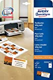 Avery Zweckform C32253-25 Place Cards Uncoated Micro-Perforated 185 g 110 x 30, 25 Sheets, 4 Cards per Sheet, White