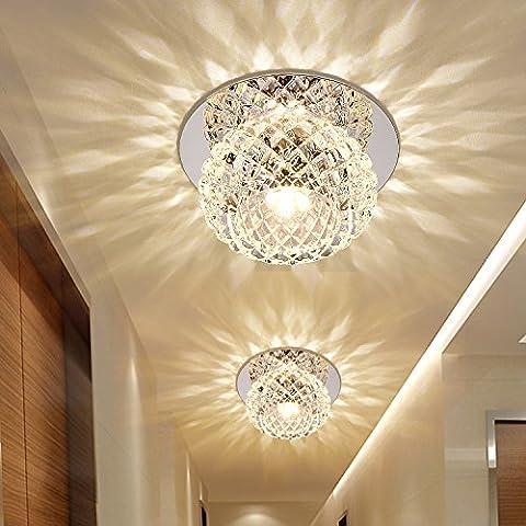 LYXG Il salotto circolare a LED lampada a fascio luci luci corridoio corridoio crystal giorni lanterna faretto da incasso lampade da soffitto ( diametro 120mm), come pranzo colore luce