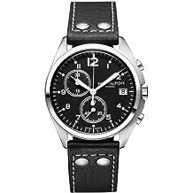 Hamilton HML-H76512733 - Reloj automático para hombre, correa de acero inoxidable color plateado
