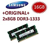 2x 8 GB 204 pin DDR3-1333 SO-DIMM (1333Mhz, PC3-10600S, CL9)