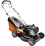 Yard Force GM B46 Tondeuse à gazon rotative autopropulsée à essence, Noir/Orange, 46 cm