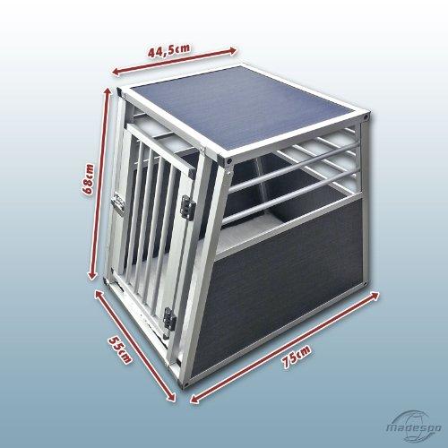hundeinfo24.de Hundebox / Alubox / Hundetransportbox / Autobox + Einlegematte Inbus-Verschraubung Größe S