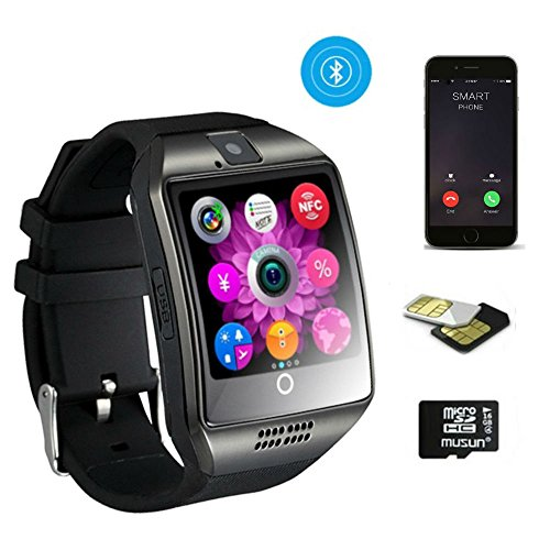 Smartwatch, TKSTAR Touchscreen Smart Watch Telefon Herren Damen Smartwatch Handy Uhr Business Q18 Armband Uhr mit Bluetooth Kamera Unterstützung SIM TF Karte Smartwatch für Android Samsung LG Google Pixel und iPhone 7 7Plus 6 6s 6s Plus Apple Bluetooth-telefon
