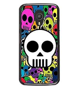 Skulls in Various Colours 2D Hard Polycarbonate Designer Back Case Cover for Meizu M2 Note :: Meizu Blue Charm Note2