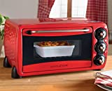 Scotts Of Stow Mini Oven Kitchen Rapid Heating 1200W Adjustable Thermostat Red
