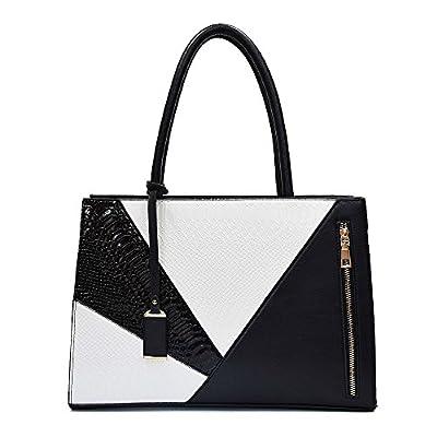 Sac à main en cuir pour femmes Femme Sac épaule PU Serpentine au concepteur un grand sac porte-documents4 pour Office Ladies