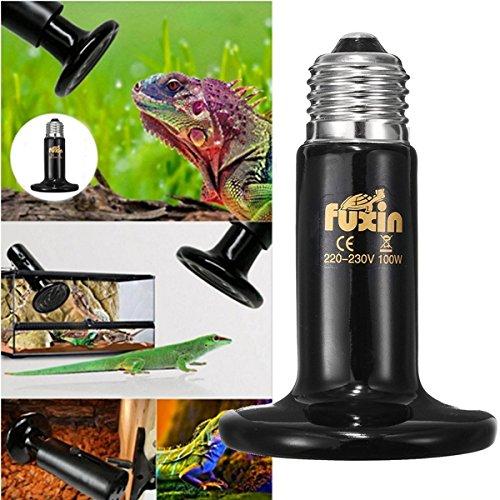 Tutoy 25W 50W 75W 100W 220V Keramischer Emitter Beheiztes Haustier-Reptil-Hitze-Zucht-Licht (Kostüm Haut Reptil)