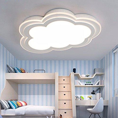 LighSCH Luces de techo Los niños nubes lámpara sencilla y moderna habitación cálida Protección Ocular Creativo Accesorios lámpara Led 30W luz cálida 55cm