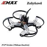 DroneAcc EMAX BabyHawk PNP 85mm Mirco FPV Racer Drone Brushless (1104 5000kv Brushless Motor, Femto F3 Flight Controller, caméra tout-en-un, VTX 25MW CMOS, Bullet 6A BLHeli_S Plug-In ESC) Noir