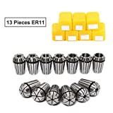 ER11 Collet set, MYSWEETY 13PCS ER11 1-7mm primavera Collet set per fresatura CNC macchina per incidere tornio Tool