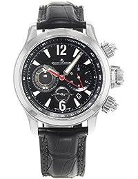 Master Compressor Chronograph Black Galvanic Dial Leather Men's Watch