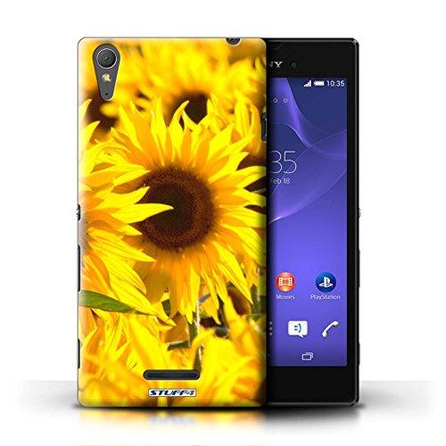 Kobalt® Imprimé Etui / Coque pour Sony Xperia T3 / Tournesols conception / Série floral Fleurs Tournesols