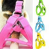 Safety Dog Vest Weiches und bequemes LED Harness, keine Pull Hundegeschirr, groß, Hund Pet Hundegeschirr Pet Weste für Outdoor Walking (XS, gelb)