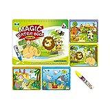 Sipobuy Magic Water Drawing Book Libro da colorare Acqua Doodle con Magic Pen Painting Board per Bambini Istruzione Drawing Toy (Animal World)