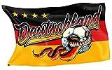 Original RAHMENLOS® Design-Flagge für den Fussball WM 2018 Fan: Deutschland-Flagge