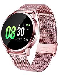 Smartwatch Sportivo Donna, Orologio Intelligente Ragazza Impermeabile IP67 Cardiofrequenzimetro da Polso Monitoraggio Fitness Tracker Contapassi Telecamera Remota Smartwatch per Android iOS (pink)