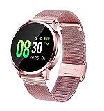 GOKOO Montre Connectée Femmes Smartwatch Sport Bracelet Connecté Étanche Pink Cardiofréquencemètre IP67 Waterproof Bluetooth Montre Intelligente Fitness Tracker d'Activité