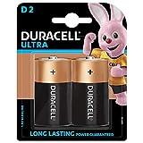 Duracell Ultra Alkaline D Batteries (Pack of 2)