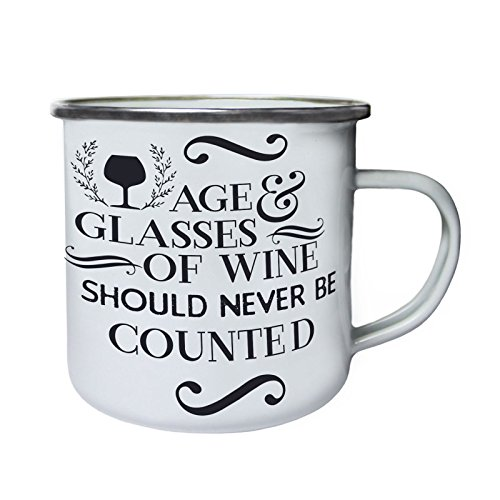 Alter Und Gläser Wein Retro, Zinn, Emaille 10oz/280ml Becher Tasse s660e