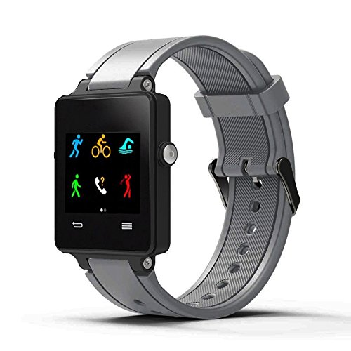 TianranRT Neu Mode Sport Silikon Armband Gurt Band Für Garmin Vivoactive Acetat GY (Grau)