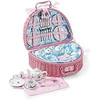 Lucy Locket - Vajilla de juguete con diseño de hada, set de pícnic con 32piezas de porcelana para niños