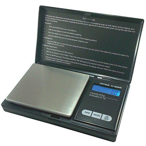 Dipse Digitalwaage M-600 - Digitale Feinwaage / Taschenwaage bis 600g in 0,1g Schritten