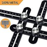 Rotek, Goniometro righello, In lega di alluminio, Per misurare angoli, Custodia inclusa, Per artigianato o per falegnami, muratori, carpentieri, piastrellisti