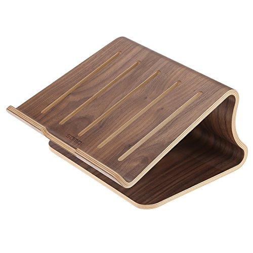 SAMDI Universelle Notebookständer Elegante Laptop Halter Holz Laptop Kühlung Cooling Stand Haltewinkel Sockel für MacBook Air / Pro Retina PC Notebook