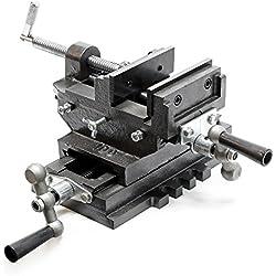 WilTec Étau de Machine 2 Axes Étau pour Table croisée Table de fraisage ou Bien Établi