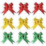 Tamaño:  Sin tirar: diámetro: 4,5 cm de largo: 5 cm  Calidad:  30 piezas, incluidos 3 colores.  Rojo x 10  verde x10  amarillo x10  Instrucciones de uso:  Montaje rápido, fácil de usar. Simplemente tira de las dos cintas finas para crear he...