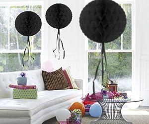 CREATIVE Bola Nido de Abeja para Decorar, Color Negro, 30 cm