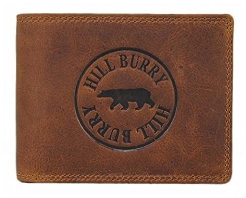Hill Burry Geldbörse / Portmonnaie aus naturgegerbtem eichem Leder / RindsLeder LGHB6404S