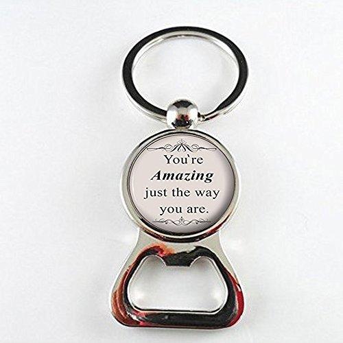 Bruno Mars Quote Jewelry - Abrebotellas con cita de canción de licra - joyería de plata regalo para ella - usted es increíble de la manera que usted es