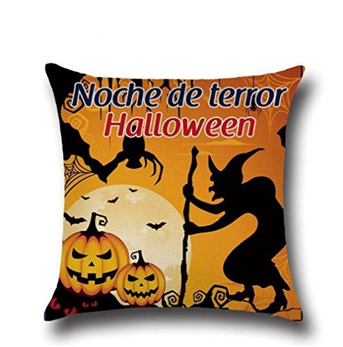 Wmshpeds Halloween Serie Home Dekoration Kissen Kissen Kissen Kissen Kissen Kissen Mittagessen Auto Lendenwirbelstütze