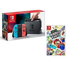 Nintendo Switch Rouge/Bleu Néon 32Go + Super Mario Party