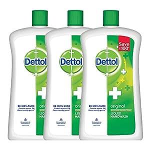 Dettol Germ Protection Handwash Jar - 900 ml (Original, Pack of 3)
