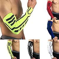 P12cheng Mangas de compresión para brazo, guantes para hombres y mujeres, jóvenes, deportes al aire libre, baloncesto, correr, suave, elástico, protector de brazo, color azul XL, negro, extra-large