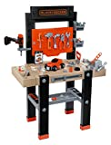 Smoby - 360701 - Etabli Bricolo Center - Black + Decker - + 92 Accessoires dont 1 Perceuse Mécanique - + Application Ludo -Educative - + 1 Voiture à  Construire