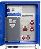 as - Schwabe Baustromverteiler SVEV 1 CEE-Stromverteiler für Baustelle, Aussen und Outdoor, IP44, 16A, 32A, 63A, 1 Stück, blau, 61140