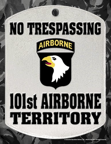 "No Trespassing Sign - ""101ST AIRBORNE TERRITORY"" - Laminated - 8.5"" x 11"""