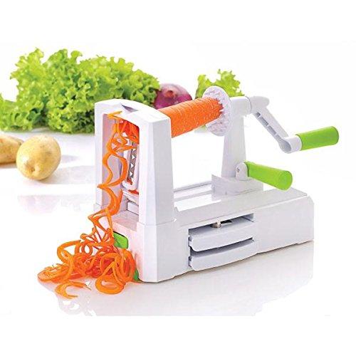 Vegetable's Chef 3-Klingen-Spiralschneider, Gemüseschneider für Zucchini-Pasta, Spaghetti, mit Gemüseschäler Mikrowellen-ofen-fäustlinge