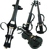 Aliyes Bois Violon électrique Taille complète 4/4Advanced intermédiaire Electric Silencieux pour violon (fibre de carbone) (Alkit-005) ALDSG-1311