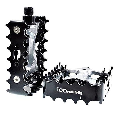 iParaAiluRy Pedale Vtt - Plate-forme en aluminium en alliage vélo Pédales pedale de velo CNC Steel Axle 9/16