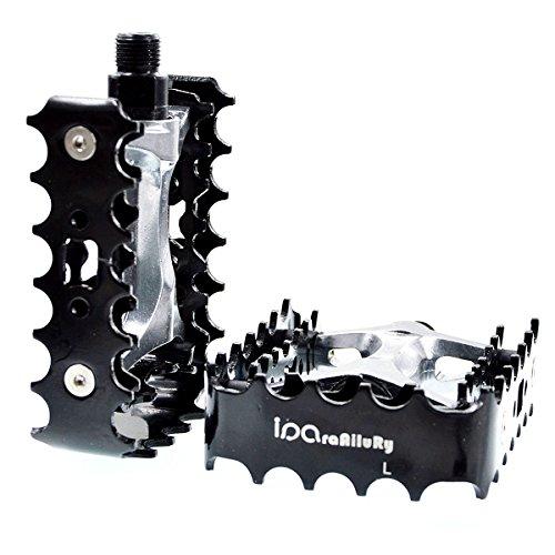 iParaAiluRy MTB pedale - Aluminiumlegierung Plattform Fahrrad Pedal mtb pedale CNC Stahlachse 9/16