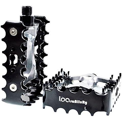 iParaAiluRy pedales de plataforma - aleación de aluminio MTB pedales de la bicicleta CNC eje de acero de 9/16